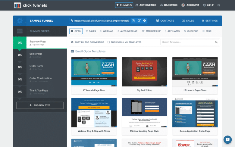 Click-Funnels page builder